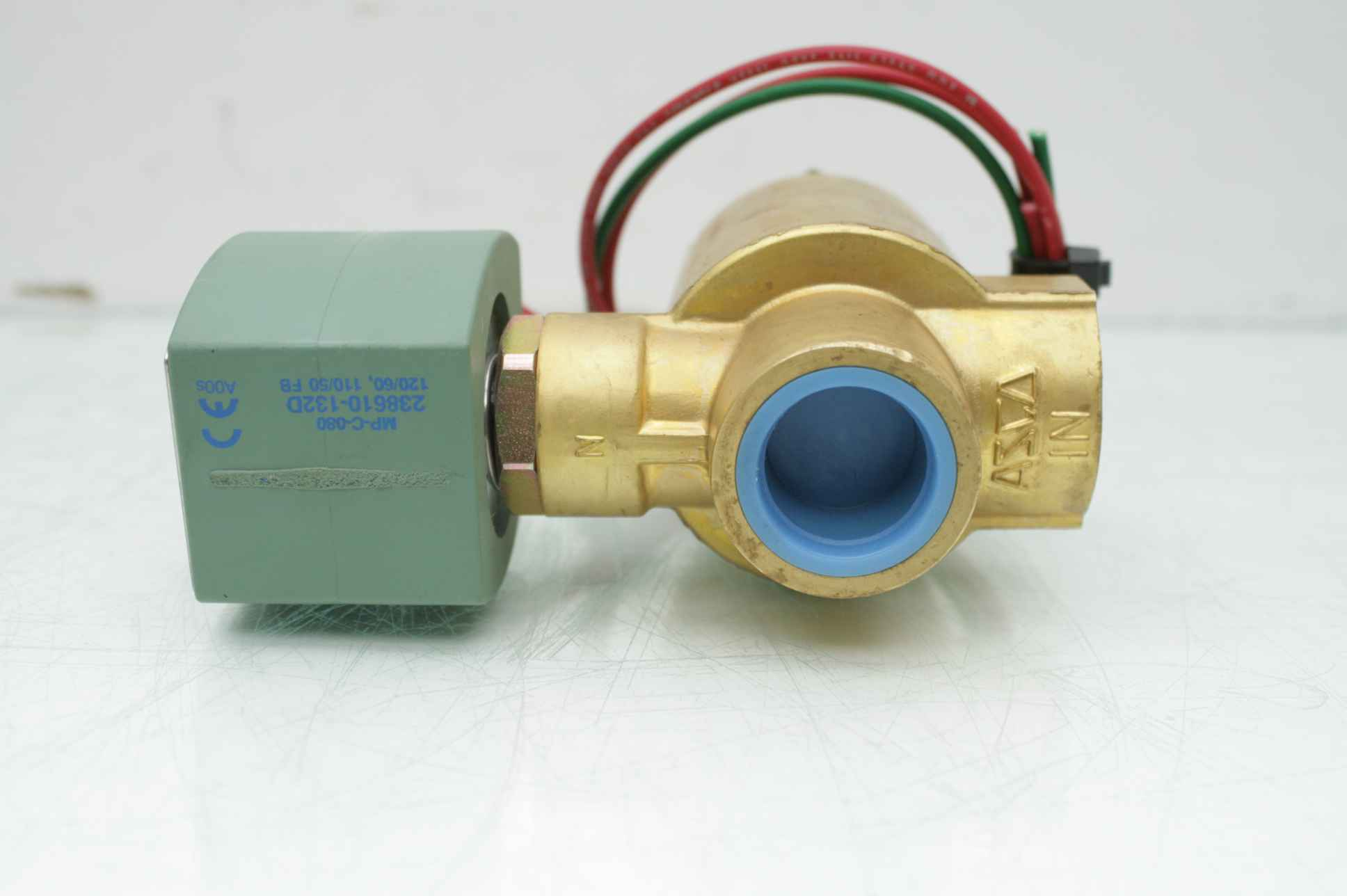1-1//4 NPT Pilot-Operated Valves NC Two-Way Asco Red-Hat 8210G8,24 VDC Brass F 24 VDC