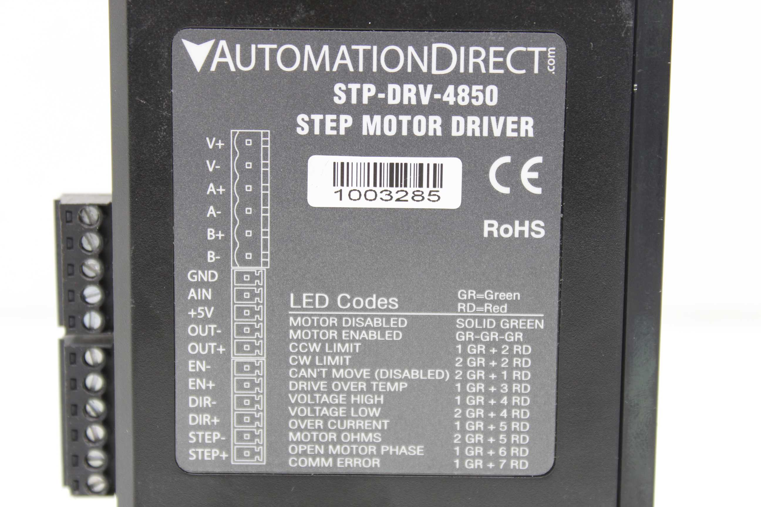 Automation Direct STP-DRV-4850 Stepper Motor Drive
