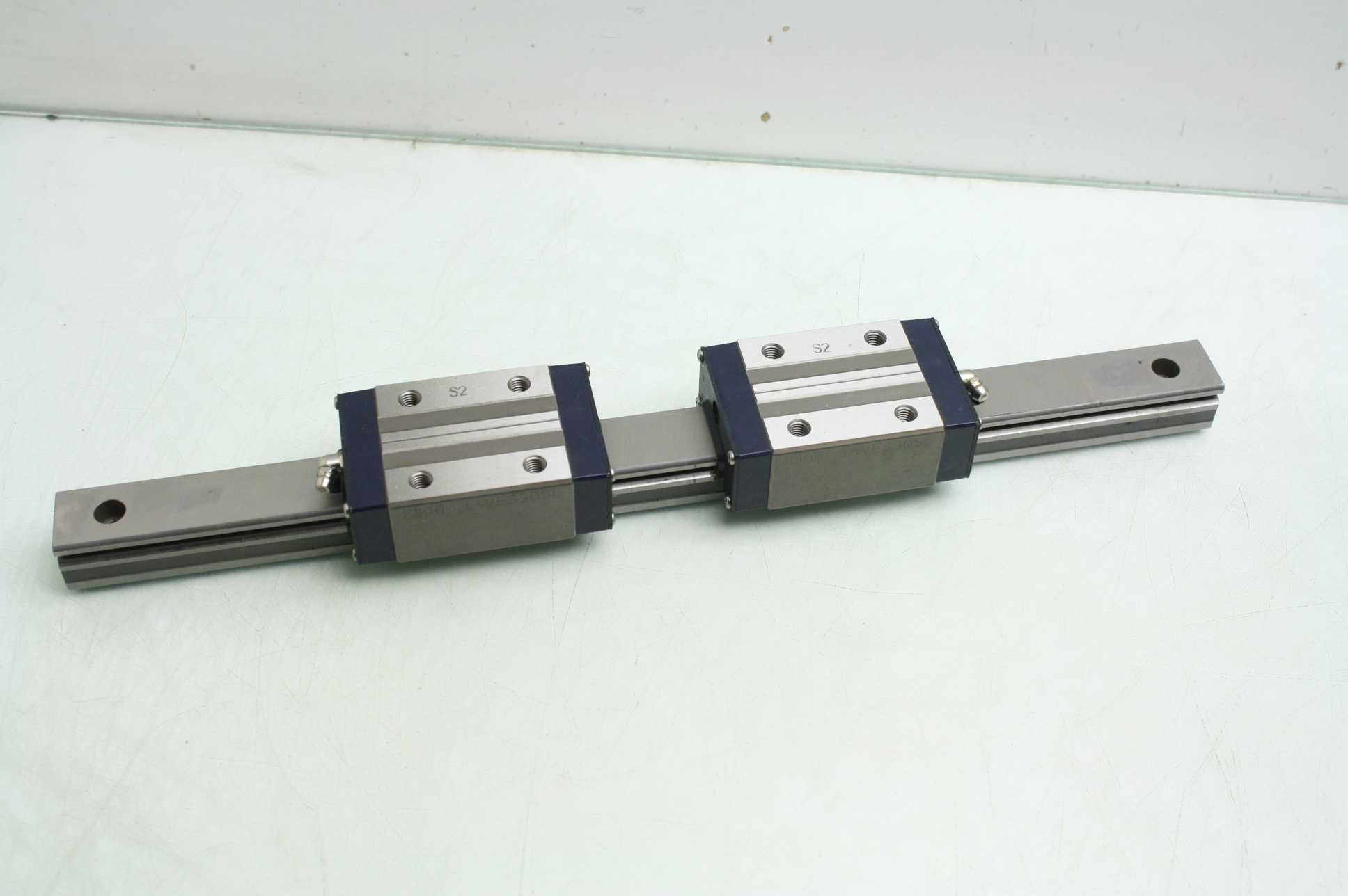 Iko Linear Motion Guide Rail W 2 Lwes30sl Square Blocks 438mm L Used Motion